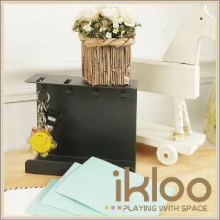 【ikloo】時尚鑰匙掛架(個性灰)