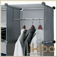 12吋收納櫃延伸配件-單格用短衣桿(30cm)商品加購只要80元