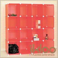 【ikloo】diy家具16格收納櫃 / 組合櫃 1