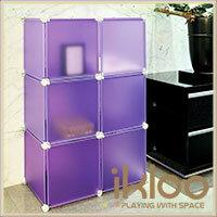 ikloo 宜酷屋 【ikloo】diy家具6格6門收納櫃/ 組合櫃