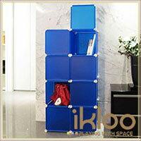 ikloo 宜酷屋 【ikloo】diy家具8格8門收納櫃/ 組合櫃