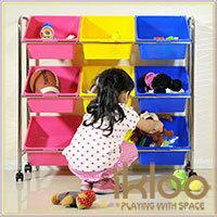 【ikloo】可移式9格玩具收納組