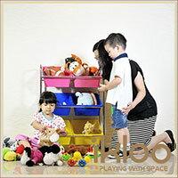 【ikloo】可移式6格玩具收納組 1