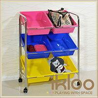 【ikloo】可移式6格玩具收納組 2