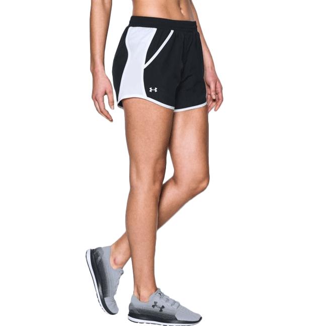 《UA出清5折》Shoestw【1297125-001】UNDER ARMOUR UA服飾 慢跑短褲 運動褲 黑白 女生