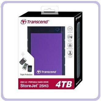 創見 H3P TS4TSJ25H3P 2.5吋 4TB 行動硬碟 超大儲存量 軍規三層抗震系統