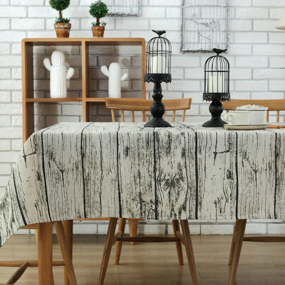 復古木紋 桌巾-140x180cm 0