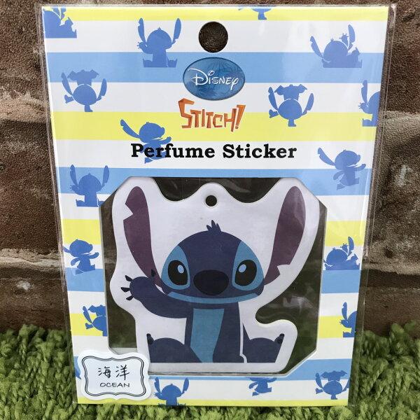 【真愛日本】17072000071 造型香氛貼紙-ST海洋 迪士尼星際寶貝 史迪奇 空氣芳香片 可吊掛 黏貼香氛片