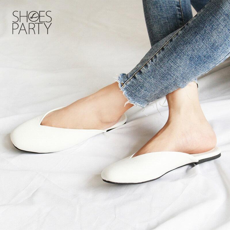 【S2-18529L】小方頭真皮穆勒鞋_Shoes Party 3