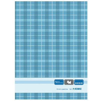 美加美 AM1208 Mono16K布格紋大格筆記本~藍 10本  包