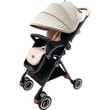 【酷貝比】高景觀單向秒收嬰兒推車 加贈杯架,雨罩蚊帳,前後PE把手皮套