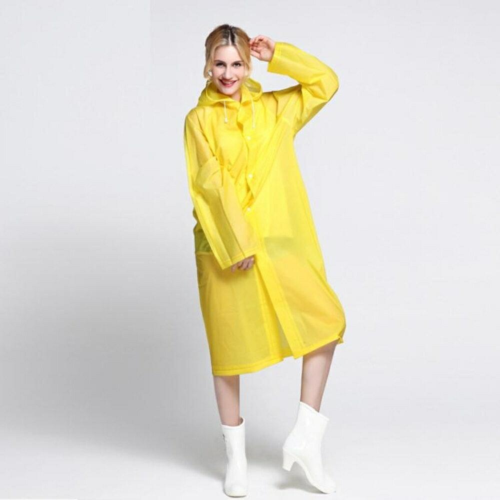 成人旅游雨衣男女式學生韓國時尚裝防水長款加厚雨披非一次性雨衣  都市時尚