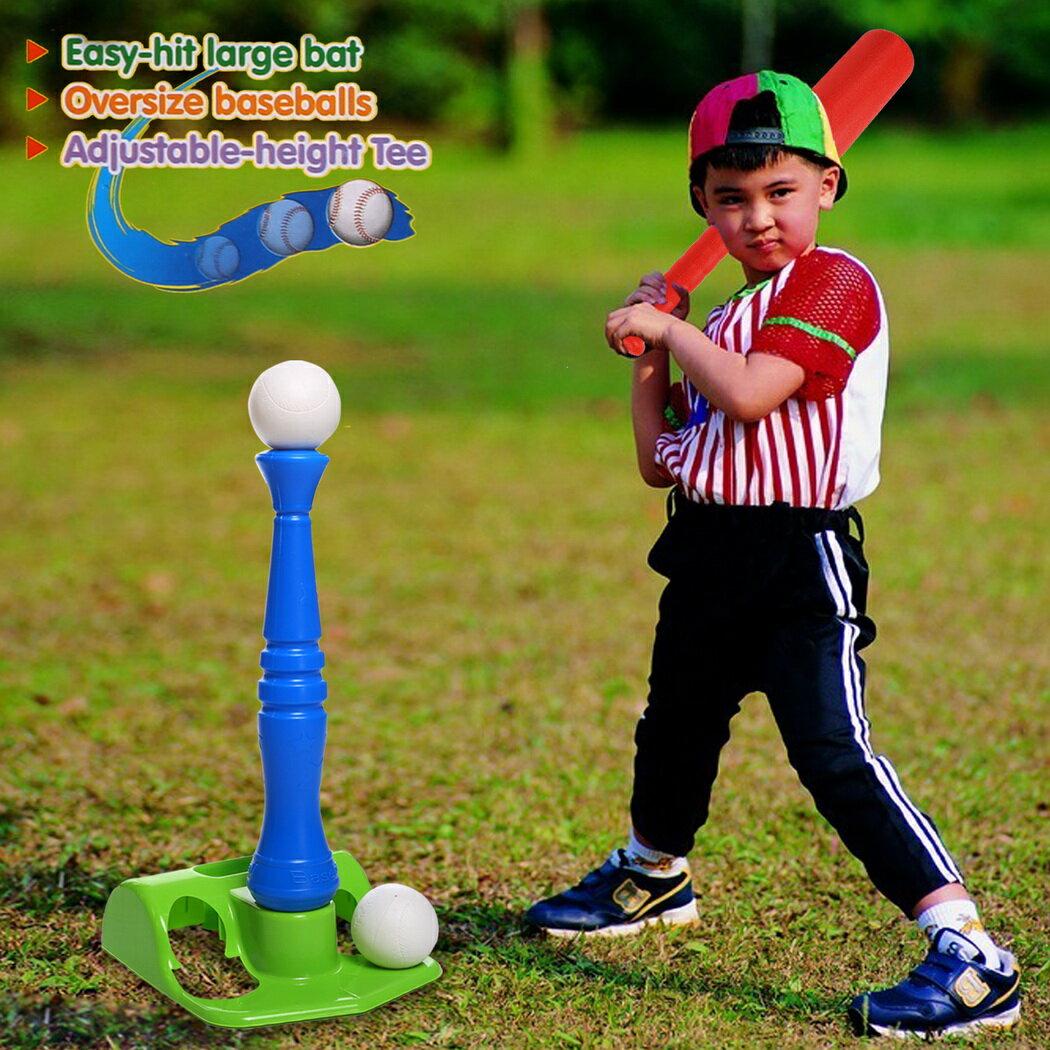 T-Ball Set, 2 Oversized Baseballs, Kids Sport tools 7