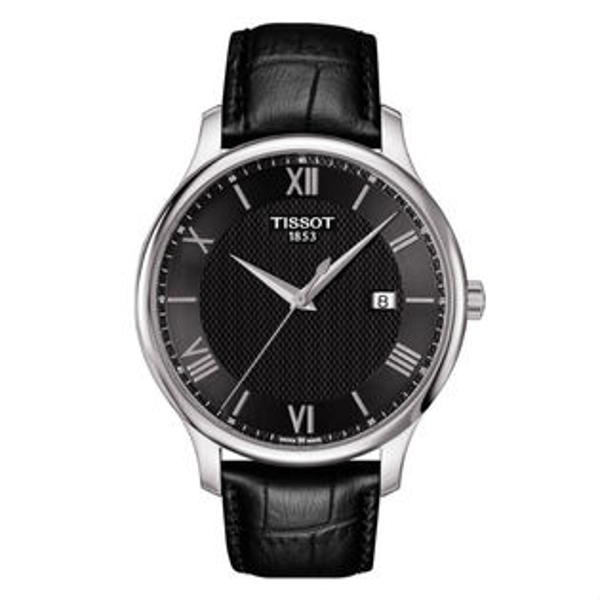 TISSOT天梭表T0636101605800TRADITION簡約羅馬時尚腕錶黑面42mm