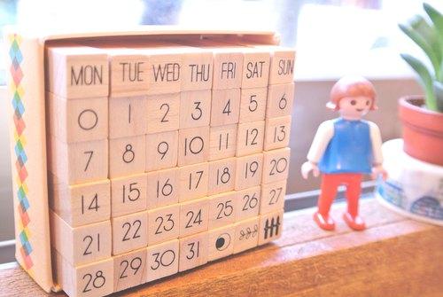 Day By Day月曆印章組復刻版-基本款D1711202《品文創》