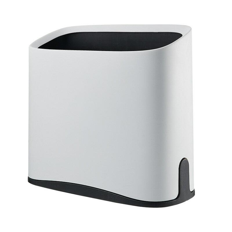 日式大號垃圾桶 家用 創意衛浴夾縫塑料垃圾筒 斜口桌面垃圾桶