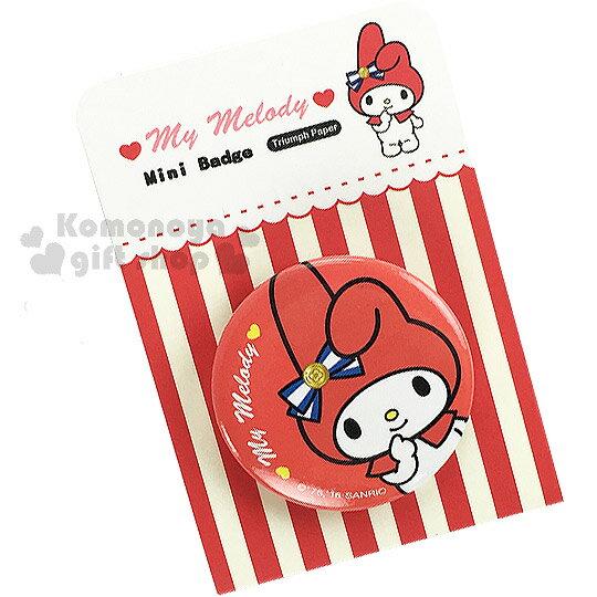 〔小禮堂〕美樂蒂 迷你胸章《紅.緞帶》添增可愛氣氛