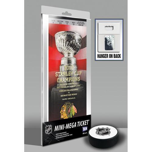 Thats My Ticket Chicago Blackhawks 2010 Stanley Cup Championship Banner Raising Mini-Mega Ticket 37f3dbdd20d23dd114d117d5eb72b0bd