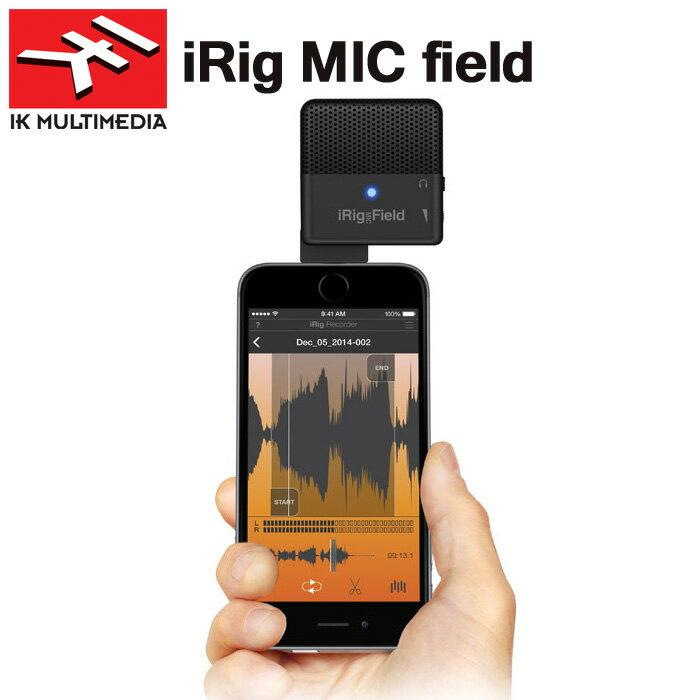 【非凡樂器】IK iRig Mic Field 立體聲麥克風/錄音麥克風(義大利/原廠)蘋果iPhone、iPad、Mac用