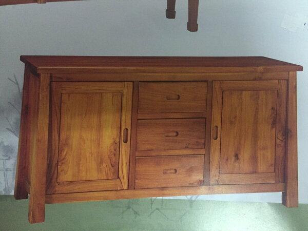 【石川家居】KL-54柚木5.3尺保羅餐櫃碗碟櫃收納櫃台中以北搭配車趟免運費