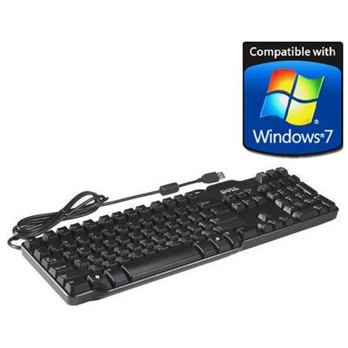 NEW, DELL USB L-100, SK-8115, RT7D50, KEYBOARD, 104 KEYS 0