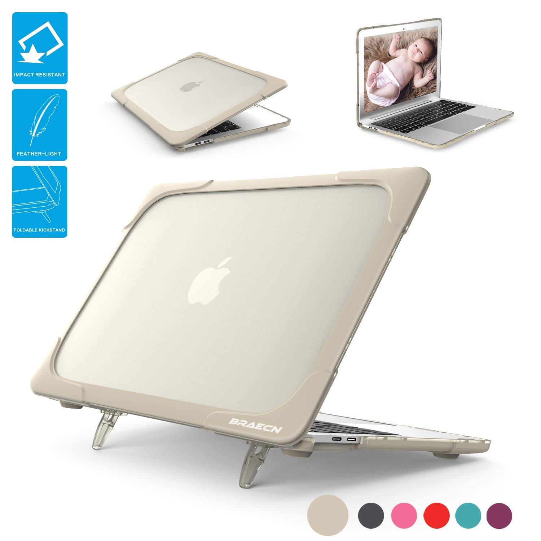 [7美國直購] 保護殼帶支架 BRAECNstock for MacBook 12 Inch Case, [Heavy Duty] Slim Rubberized B075T84YQF