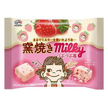 【Fujiya不二家】窯燒Milky草莓碎粒牛奶糖 38g 窯焼きミルキー苺 日本進口零食 1