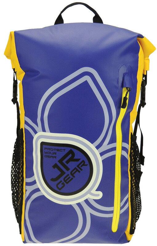 Jr Gear 雙肩背防水袋/溯溪包/防水背包 HOLA 25L 紫黃 台北山水