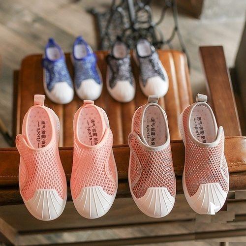 兒童貝殼頭板鞋魔鬼氈透氣休閒童鞋(15-17cm)KL32