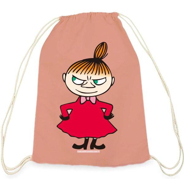 【嚕嚕米Moomin】彩色束口後背包-LiitleMy(粉紅黃色)