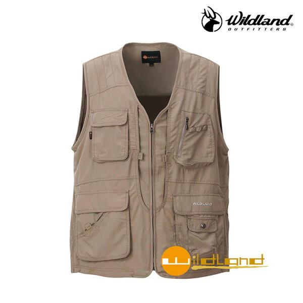 WildLand中性透氣抗UV多口袋背心W1706(M~2L)城市綠洲(荒野、旅遊、釣魚、休閒)