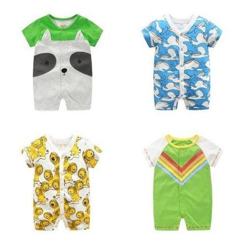嬰兒短袖連身衣春夏兔裝寶寶童裝LZ22353好娃娃