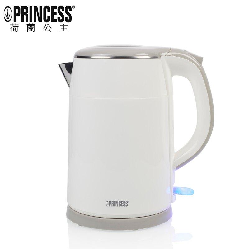 【雙層防燙設計+一年保固】Princess 236070 荷蘭公主1.5L304不鏽鋼防燙快煮壺 煮水壼