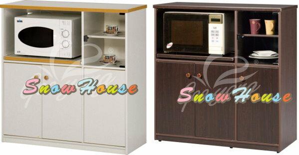 ╭☆雪之屋居家生活館☆╯AA540-09-10-11-12E-005塑鋼微波爐架(附左1片大隔板右上下各1片小隔板)