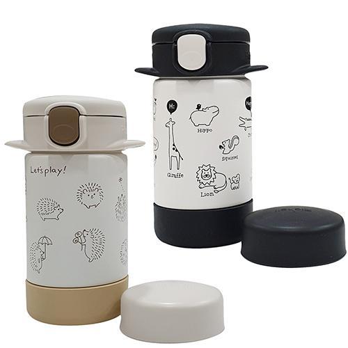 日本 Richell 利其爾 隨身型兩用不鏽鋼保溫杯160ml(俏皮黑) 885元