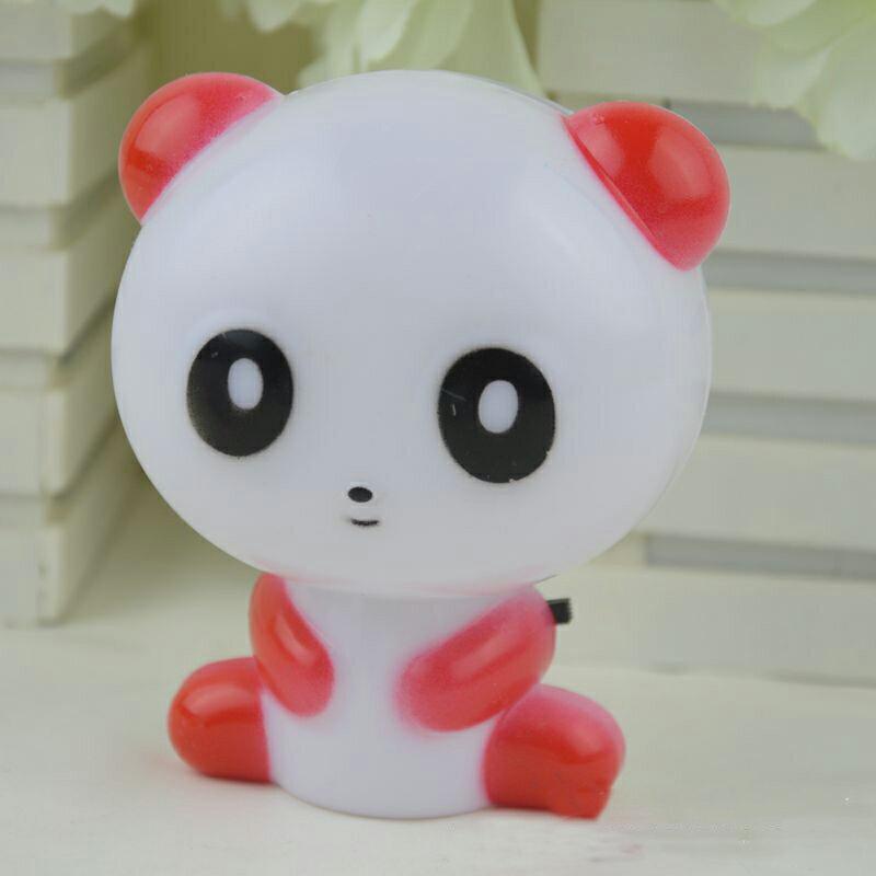 【省錢博士】LED插電帶開關 / 創意節能熊貓造型小夜燈