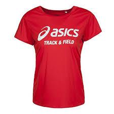 陽光運動館:ASICS亞瑟士女慢跑印花T恤吸濕排汗速乾XT6383-27D紅[陽光樂活]