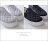 格子舖*【AS973】經典嚴選菱形車線 舒適V口鬆緊厚底懶人鞋 鬆糕鞋 帆布鞋 2色 2