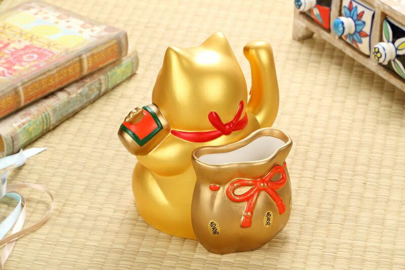 日本藥師窯 7581彩繪電動大當招財貓