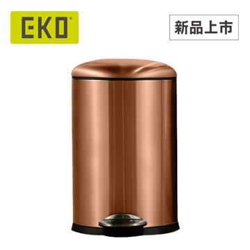 EKO 貝拉緩降靜音不鏽鋼垃圾桶 12L / 古銅色 - 限時優惠好康折扣