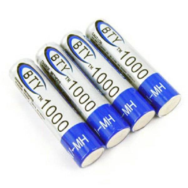 4入裝 1.2V 1000mAh 4號 四號 AAA Ni / MH 鎳氫 充電電池(19-040) 1