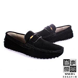 寺孝良品 義式雅痞編織麂皮豆豆鞋 黑 0