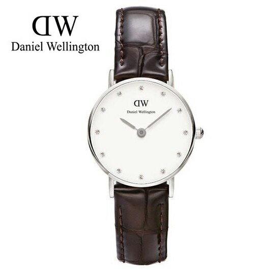 瑞典正品代購 Daniel Wellington 0922DW 銀 玫瑰金  真皮 錶帶 男女錶 手錶腕錶 26MM 0