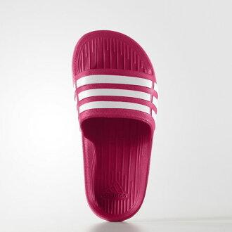 ADIDAS Duramo Slide K 拖鞋 童鞋 女鞋 一體成型 防水 桃紅 【運動世界】 D67480