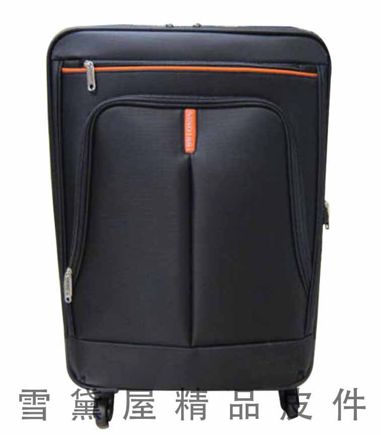 <br/><br/>  ~雪黛屋~18NINO81 24吋商務型行李箱美國專櫃360度靈活旋轉台灣製造精品品質保證可加大容量#8585<br/><br/>