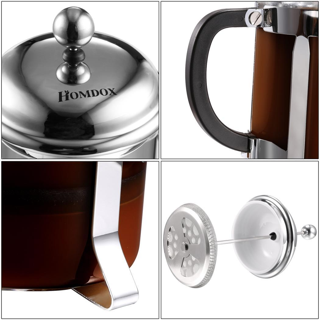 Stainless steel French coffee pot 1000ml 4
