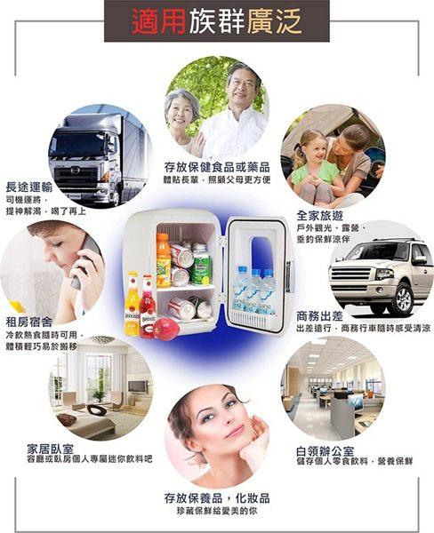 免運費贈保冷劑《 KRIA可利亞》 電子行動冷熱冰箱 / 行動冰箱 / 小冰箱 / 化妝品冷藏箱 CLT-16(白) 5