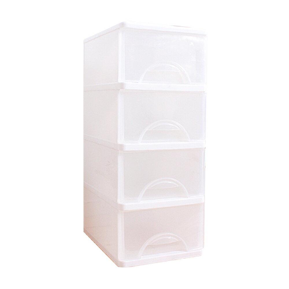 E&J【652043】Mr.box中純白四層收納櫃68L 收納箱/整理箱/收納袋/衣櫃