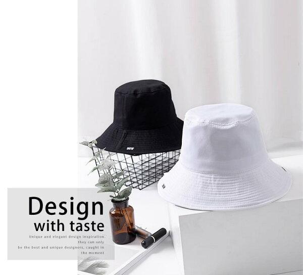 漁夫帽字母刺繡簡約可折疊布帽盆帽遮陽漁夫帽【JYF0122】BOBI0412