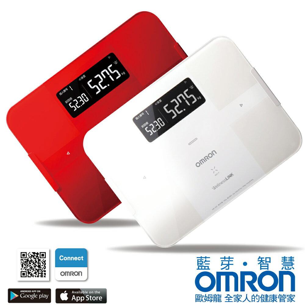 【醫康生活家】OMRON歐姆龍藍芽智慧體重體脂計HBF-254C(紅/白二色)